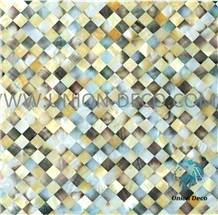 Black and Yellow Color Shell Back Tile Mosaic