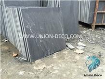 Black Slate Tiles Stone Veneer Exterior Floor