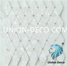 Diamond White Mother Of Pearl Shell Mosaic