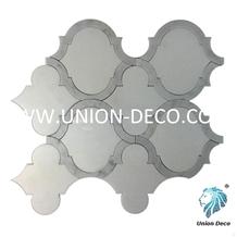 Marrakech Thassos White Marble Waterjet Mosaic