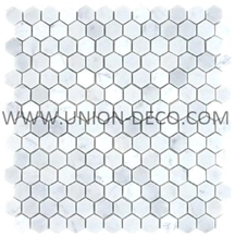 Mosaic White Marble Water-Jet Mosaic Floor Mosaic