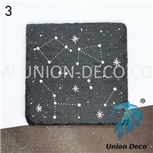 Natural Square Constellation Pattern Slate Coaster