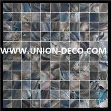 Premium Quality Deep Sea Black Pearl Shell Mosaic