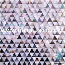 Seashell Tile Diamond Shape Mother Of Pearl Mosaic