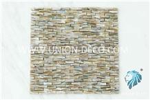 South Seas Pearl 3d Brick Pattern Mosaic Tile