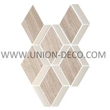 Thassos Timber White Mix Diamond Marble Mosaic