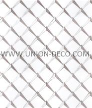 White Gray Modern Marble Tile Water-Jet Mosaic