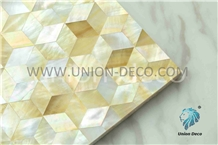 Yellow Color Nutural Shell Back Tile Mosaic