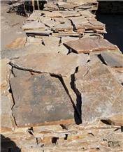 Yellow Quartzite Irregular Paving Stone Tiles