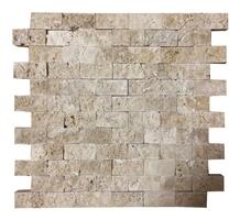 Rustic Travertine Split Face Mosaic, Mosaic Tile