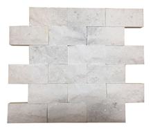 White Marble Split Face Mosaic, Mosaic Tile
