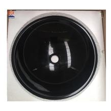Black Marquina Marble Round Bathroom Wash Basins