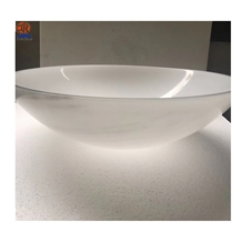 Han White Jade Marble Public Vanity Bathroom Sinks