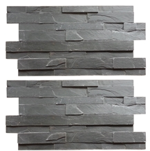 Black Slate Stacked Stone Veneer for Wall Cladding,Culture Stone