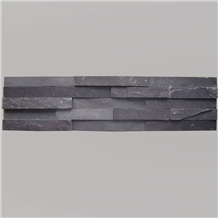 Black Slate Stacked Stone Veneer