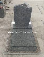 Czech Small Simple G654 Granite Full Set Tombstone