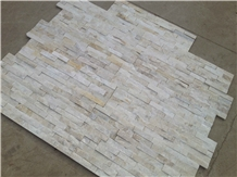 White Color Ledge Stone Feature Wall Decor