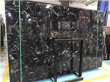 Black Ice Blossom Marble China Black Marble Slab