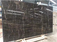 Golden Black Marble Polished Black Marble Slabs