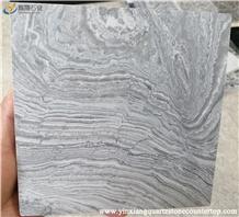 River Grey Grained Veins Marble Tiles/Slab