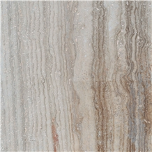 Gazanbar Polished Vein Cut Semi White Travertine