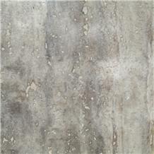 Gazanbar Polished Vein Cut Silver Travertine
