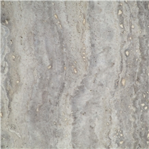 Torshab Polished Vein Cut Silver Travertine