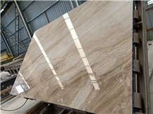 Diano Dino Reale Beige Marble Slabs Bookmatched