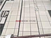 Beige Outdoor Petrified Wood Marble Floor Tile