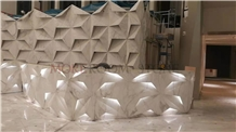 Commercial Luxury Marble 3d Reception Table Design