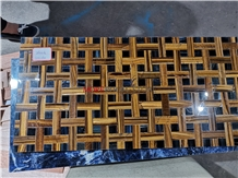 Luxury Bartop Yellow Blue Tiger Eye Slab Tiles