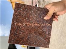 Andoni Red Granite Polished Tiles Slabs