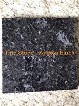 Angola Black Granite Stone Slab Tile Wall Covering