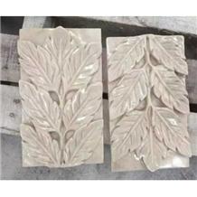 Beige Sandstone Wall Design Reliefs Decoration
