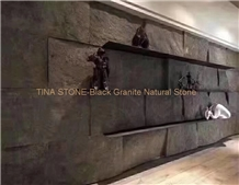 Black Granite Natural Stone Wall Cladding