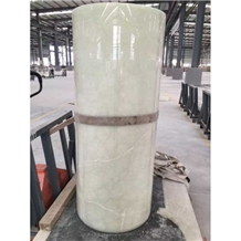 Building Stones Green Onyx Column Sculptured