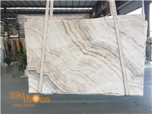 Chinese Beige Onyx Slabs Tiles