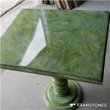 Green Onyx Table Top for Interior Home Decors