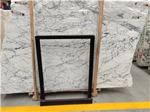 Italy Fine Snowflake White Marble Slab in China