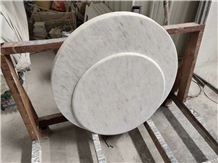 Natural Polished Ariston White Marble Table Tops