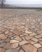Red Sandstone Flagstone Culture Paving