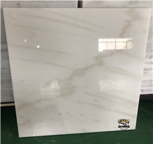 Cloudy White M041 Marble Plished Tiles