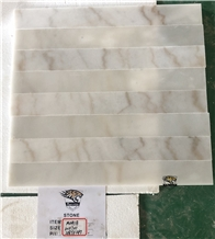 M041 Cloudy White Marble Skirting Borders