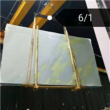 Arctic Blue Sky Marble Gold Lines Stone Slab