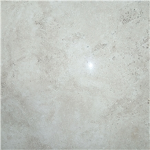 Honed Gazanbar White Travertine Tiles, Slab