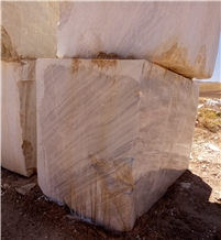 Iran White Persian Volakas Marble Blocks