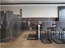 Modern Pietra Grey Marble Kitchen Islands Top,Bar Top
