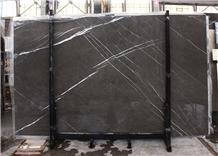 Pietra Grey Grigio Marquina Marble Slab Block in Stock