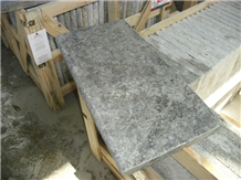 Silver Grey Travertine Pool Coping Tiles Exterior Floor