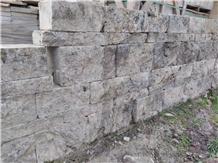 Silver Travertine Big Wall Stock Stone Masonry